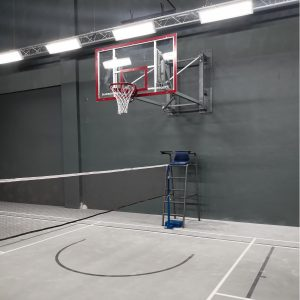 Basketball post_wall mounted
